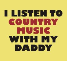 Country Music With My Daddy Kids Tee