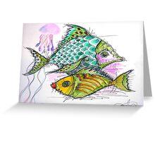 2 colors fish Greeting Card