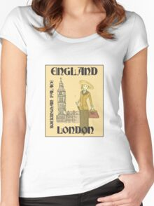 She Traveled to England Women's Fitted Scoop T-Shirt