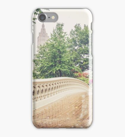 Rainy On Bow Bridge iPhone Case/Skin
