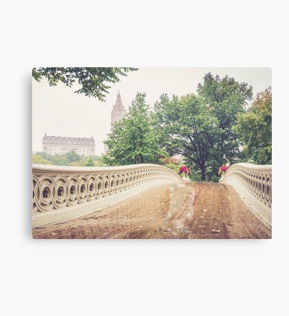 Rainy On Bow Bridge Canvas Print