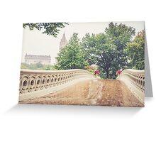 Rainy On Bow Bridge Greeting Card