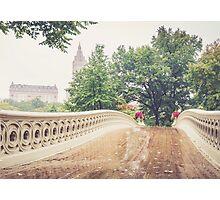 Rainy On Bow Bridge Photographic Print