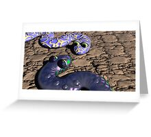 Snake To Snake Greeting Card