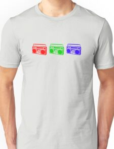 3 Boomboxes: RGB Unisex T-Shirt