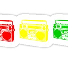 3 Boomboxes: RYG Sticker