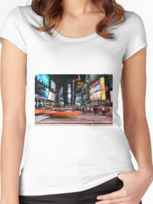 Times Square  Women's Fitted Scoop T-Shirt