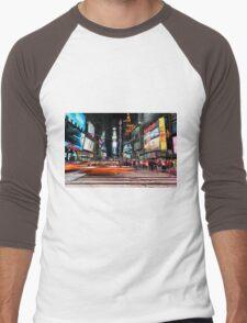 Times Square  Men's Baseball ¾ T-Shirt