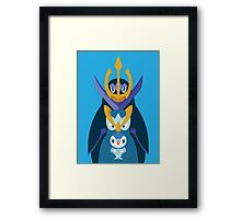 Awkward Penguin Portrait Framed Print