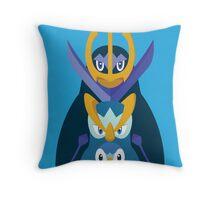 Awkward Penguin Portrait Throw Pillow