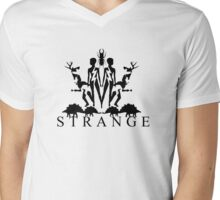 Strange (Black) Mens V-Neck T-Shirt