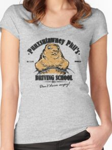 Punxsutawney Phil's Driving School Women's Fitted Scoop T-Shirt