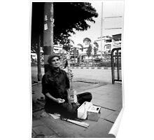 Blind Street Musician Poster