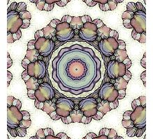 abstract flowers kaleidoscope mandala Photographic Print