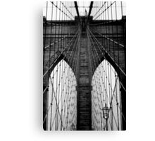 Brooklyn Bridge Profile Canvas Print