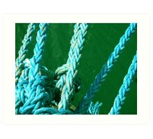 in the blue knots  Art Print