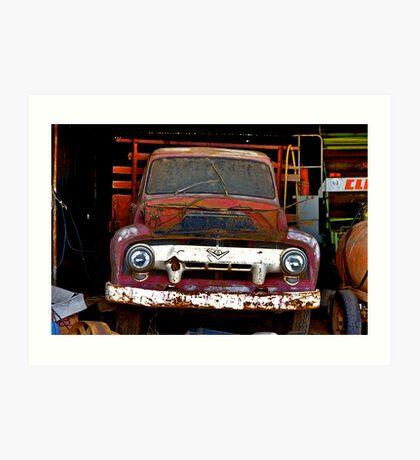 CLASSIC-TOW-TRUCK Art Print