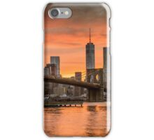 Sunset Over Brooklyn Bridge iPhone Case/Skin