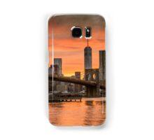 Sunset Over Brooklyn Bridge Samsung Galaxy Case/Skin