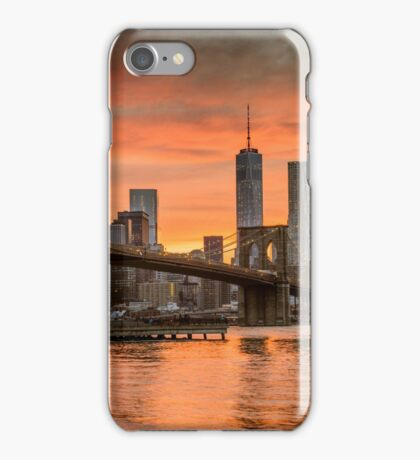 Sunset Over Brooklyn Bridge iPhone Case/Skin
