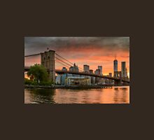 Sunset Over Brooklyn Bridge Unisex T-Shirt