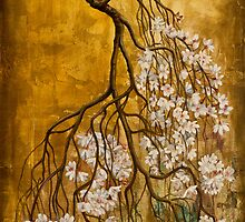 Blooming sakura by Vrindavan Das