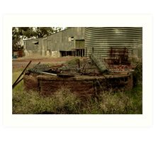 LEFT OVER WIRE FENCE Art Print