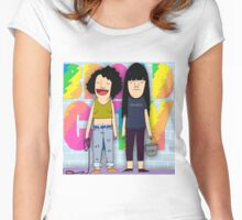 Broad City TV Series Logo 3 Women's Fitted Scoop T-Shirt