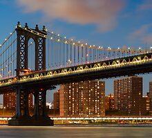 Manhattan Bridge by Randy  LeMoine