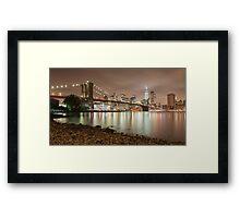 Brooklyn Bridge at Dusk Framed Print