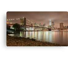 Brooklyn Bridge at Dusk Canvas Print