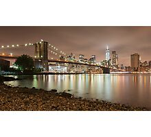 Brooklyn Bridge at Dusk Photographic Print