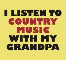 Country Music With My Grandpa Kids Tee