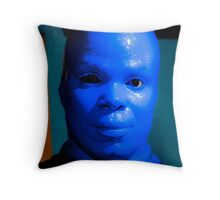 Blue Man Throw Pillow