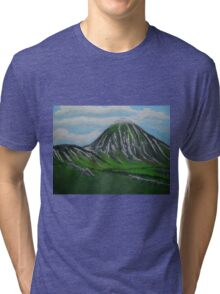 Mount Croagh Patrick, Irish Republic Tri-blend T-Shirt