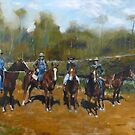 PAINTING FOR KIRRILLY - The Magnificent 5  by Wayne Dowsent