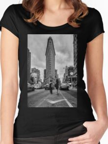 Flatiron Building, Study 1 Women's Fitted Scoop T-Shirt