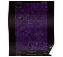 USGS Topo Map Washington State WA Cliff Ridge 240575 1964 24000 Inverted Poster