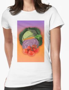 Vegetables 2 / Fruit Shop Womens Fitted T-Shirt