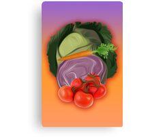 Vegetables 2 / Fruit Shop Canvas Print