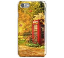 Autumn lane iPhone Case/Skin