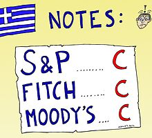 Binary Options News Cartoon - Three C Ratings on Greek Notes FAIL by Binary-Options
