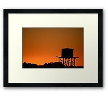 Water tank at sunset Framed Print