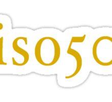 Iso 50 Sticker