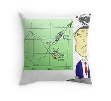 caricature des infos options binaires - la Chine n'est pas contente Throw Pillow