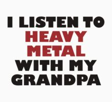 Heavy Metal With My Grandpa One Piece - Short Sleeve