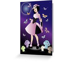 Space Age Lolita Greeting Card