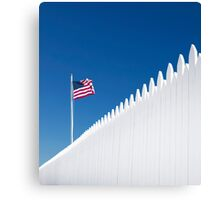 Our White Picket Fence. Canvas Print