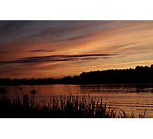 Sunset over Istra river Photographic Print
