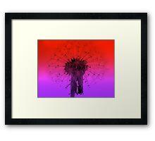 Psychedelic Dandelion Framed Print